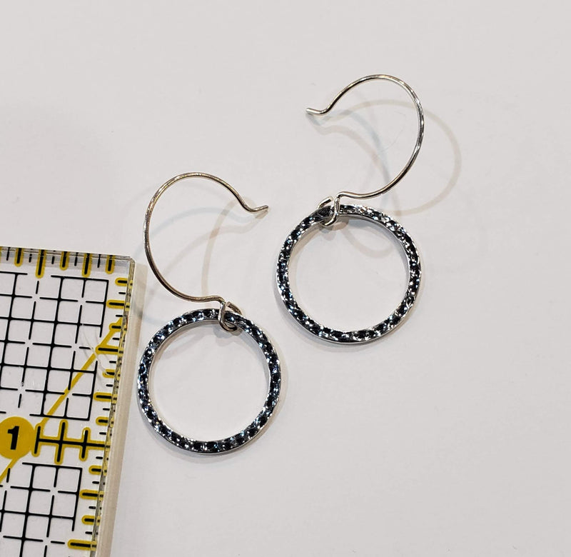 Small Textured Hoops