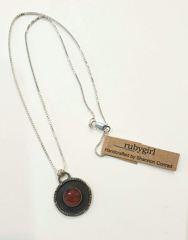 Gemstone Medallion Pendant- Various Stones