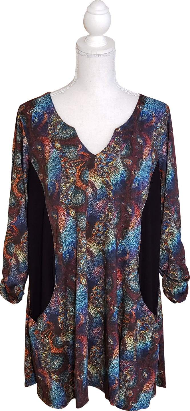 Rosemary Top/Tunic in Mosaic- XL Only