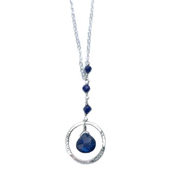 Pompeii Faceted Gemstone Orbit Y-Necklace