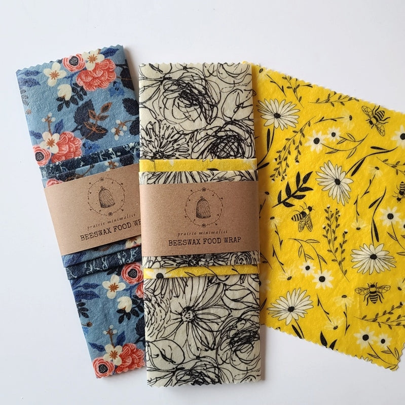 Beeswax Wrap Set- Sketch Floral