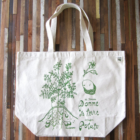 Cotton Tote Bag- Potato Print