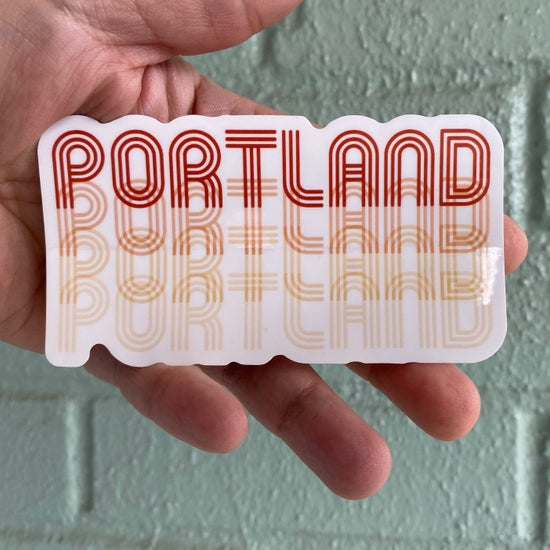 Portland Retro Fade Sticker
