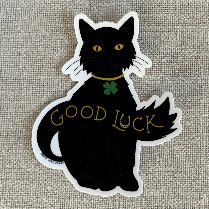 Good Luck Kitty Sticker