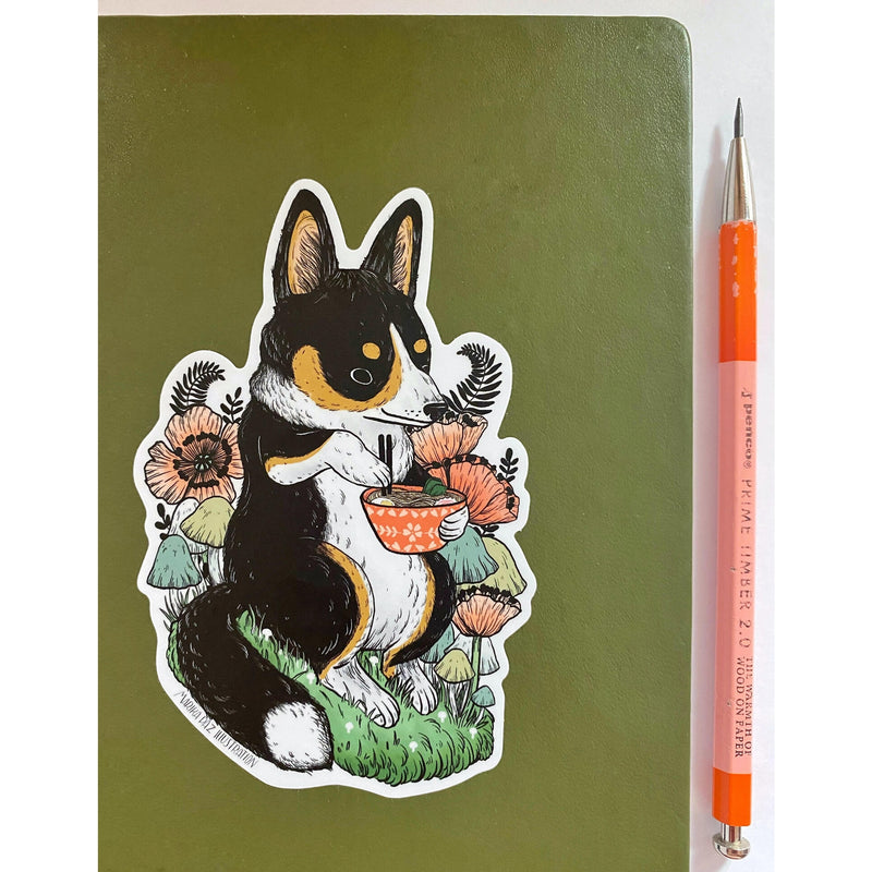 Corgi Ramen Sticker