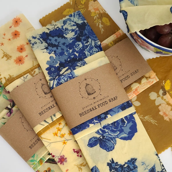 Beeswax Wrap Set- Assorted Floral