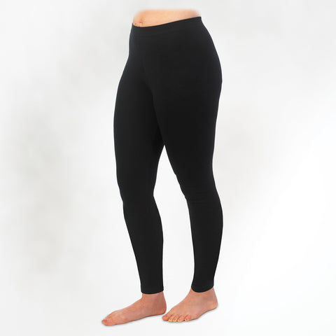 Organic Cotton Leggings in Black