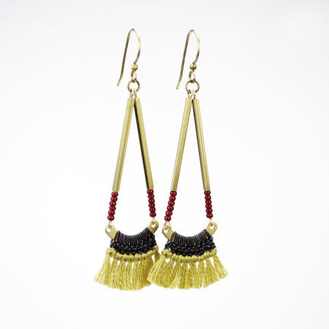 Bagwis Crocheted Fringe Earrings