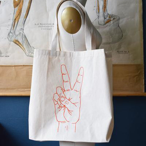 Cotton Tote Bag- Peace