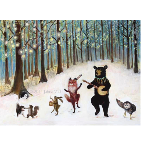 Forest Festivities Greeting Card