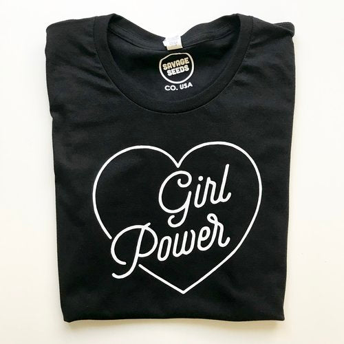 Girl Power Tee in Black