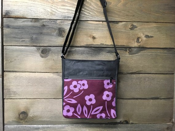 Waxed Canvas Purse with Screenprint