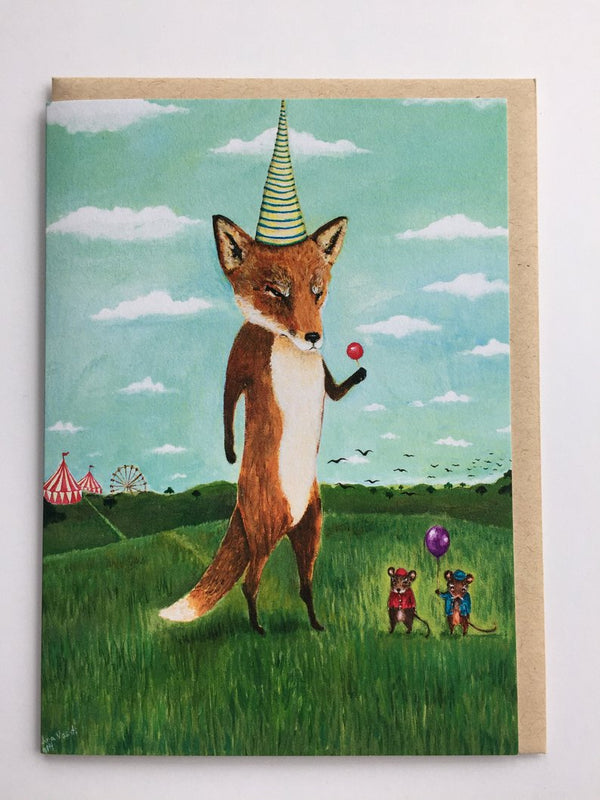 Boss Fox Greeting Card