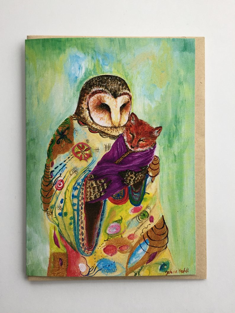 Mother Owl Greeting Card