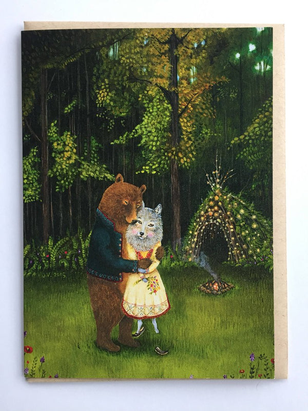Swept off Her Feet Greeting Card