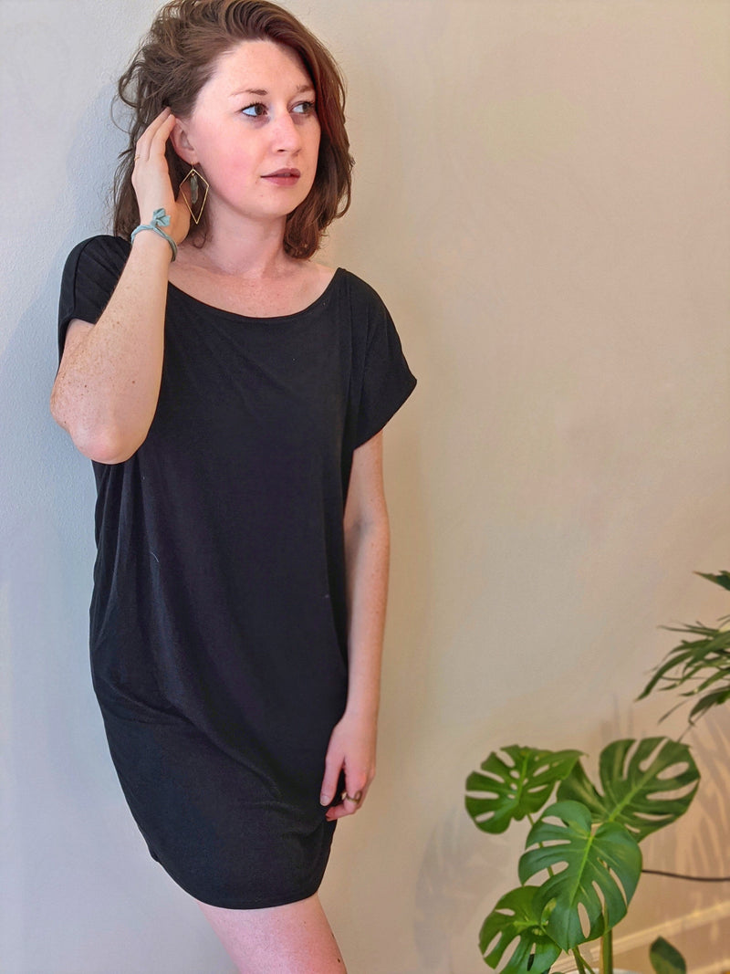 Emily T-shirt Dress in Black