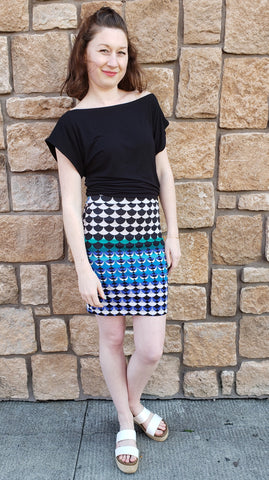 Charlotte Skirt in Mermaid Scales