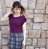 Julia Tee in Plum