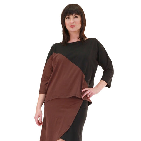 Kate Top in Chocolate and Black