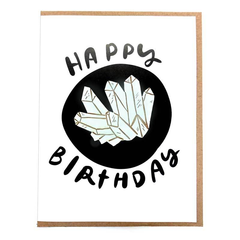 Crystals Magnet with Happy Birthday Card