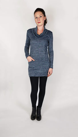 Melina Tunic in Denim Sweater Knit