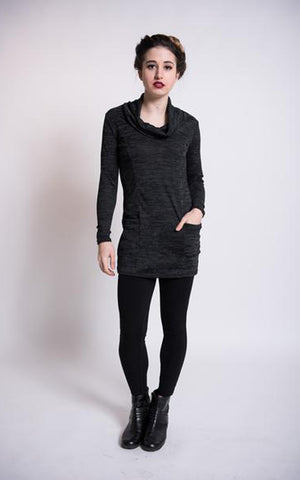Melina tunic in charcoal grey knit