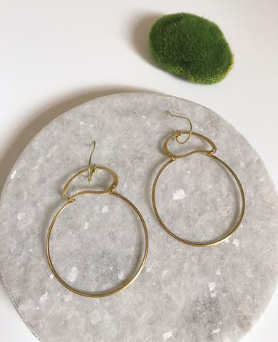 Large Organic Top Hoops
