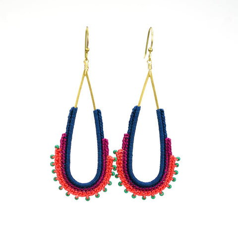 Arches Long Teardrop Hoops