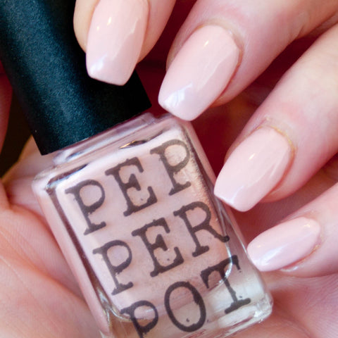 "Pepperpot Polish ""My milkshake"" pale pink nail polish"