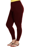 XL Leggings in Deep Burgundy
