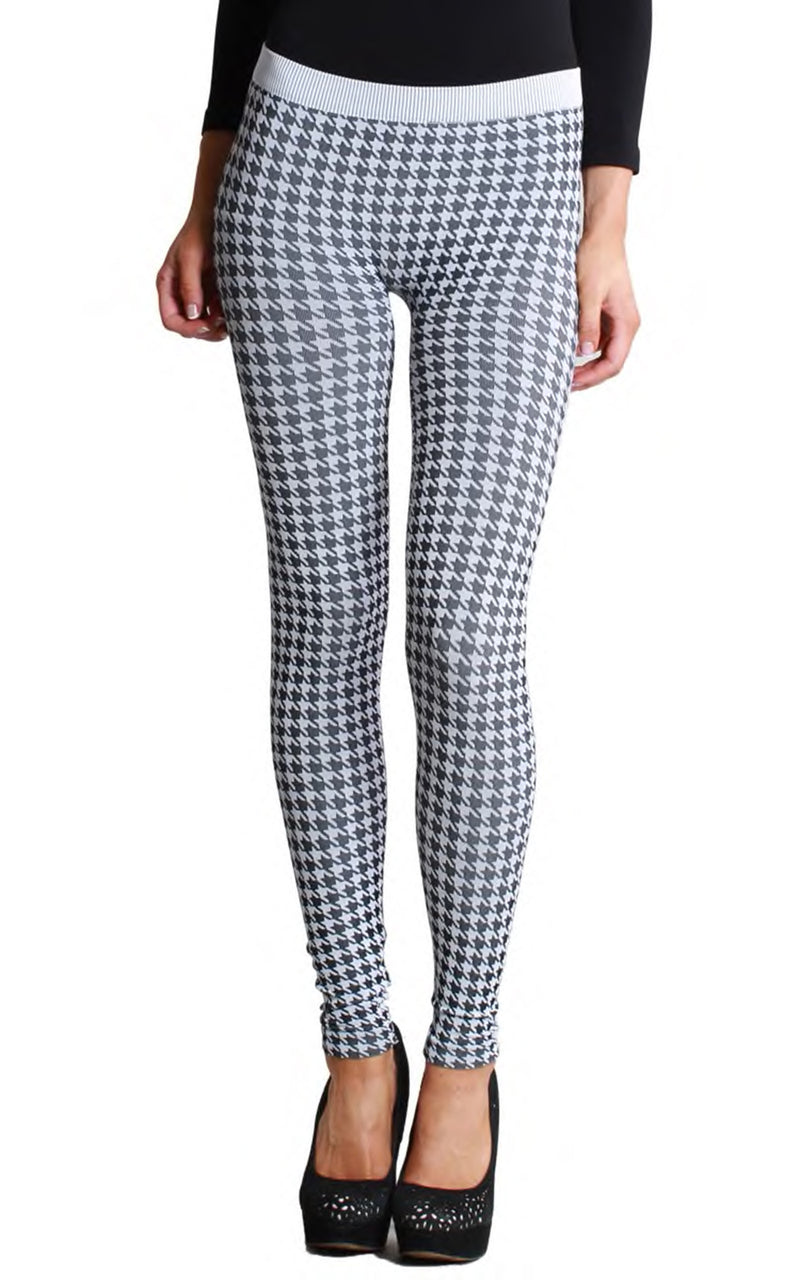 Houndstooth O/S Leggings