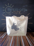 Cotton Tote Bag - Rabbit Shadow Puppet
