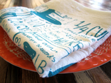 Handprinted Tea Towel - Kitchen Gadgets