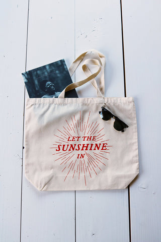 "Cotton Tote Bag - ""Let the Sunshine In"""