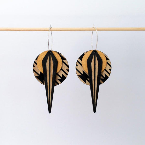 La Naja Earrings - Mustard