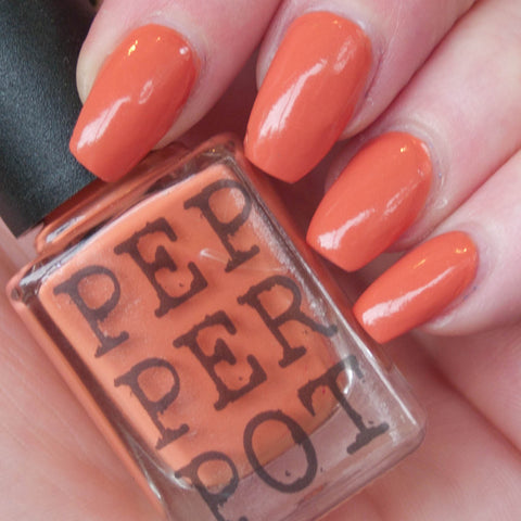 "Pepperpot Polish pastel orange ""baxter lamm"" nail polish"