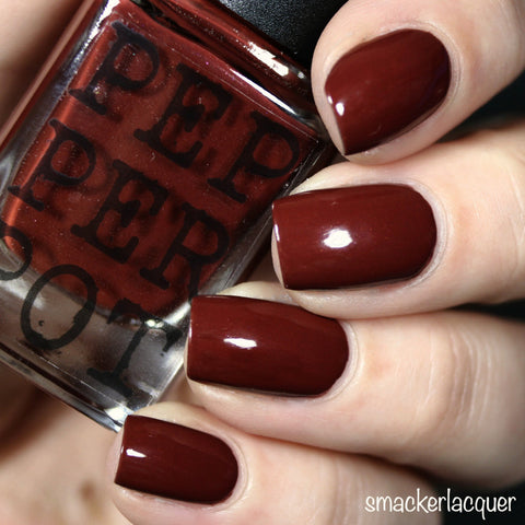 Oxblood Red nail polish from PepperPot Polish