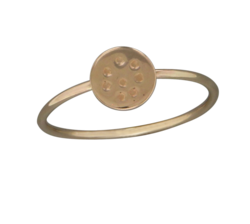 Dimpled Disc Ring in Gold Fill