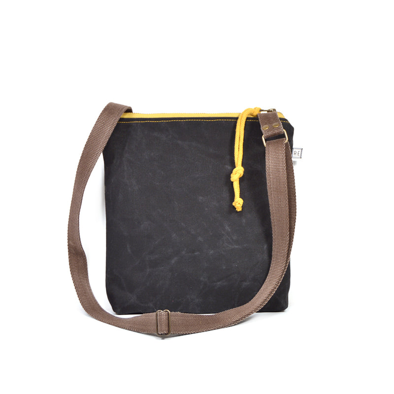 Weekdayer Waxed Canvas Crossbody Purse in Moonbeam
