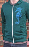 Unicorn Seahorse Unisex Hooded Sweatshirt detail shot