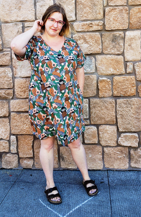 Bryn Dress in Peek-a-Boo Garden Print