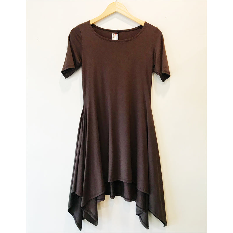 Terra Dress in Chocolate Brown