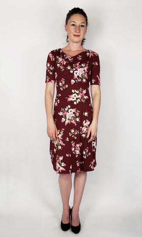 Lizbeth Dress in Burgundy Bouquet