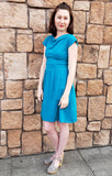 Bette Dress in Teal Blue
