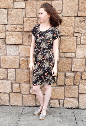Marissa Dress in Woven Pheasants!