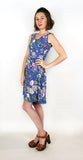 Madison Dress in Blue Floral