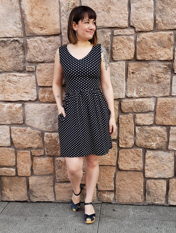 Madison Dress in Polka Dots