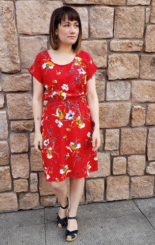 Marissa Dress in Woven Vintage Floral