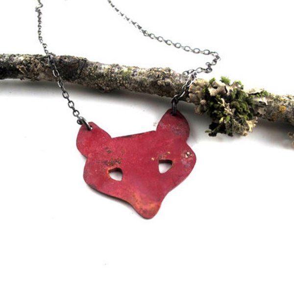 Copper or Silver Fox Necklace