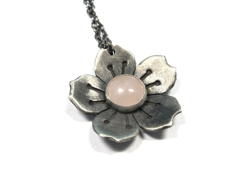 Cherry Blossom Pendant Necklace